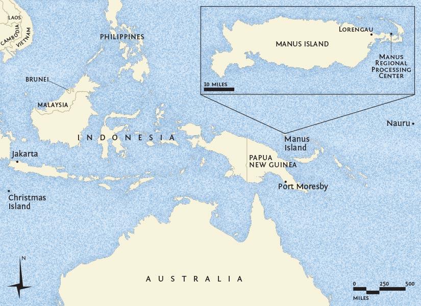 Manus Island Map Dolmarva Design Maps